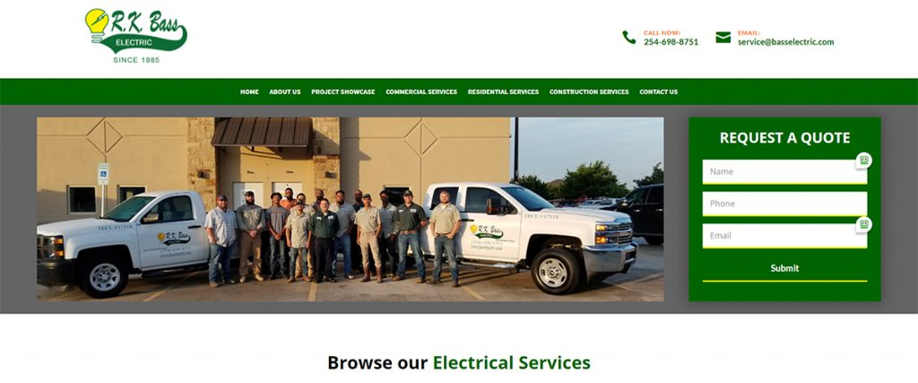 R.K. Bass Electric | A Website by Gale Force Marketing, Inc.