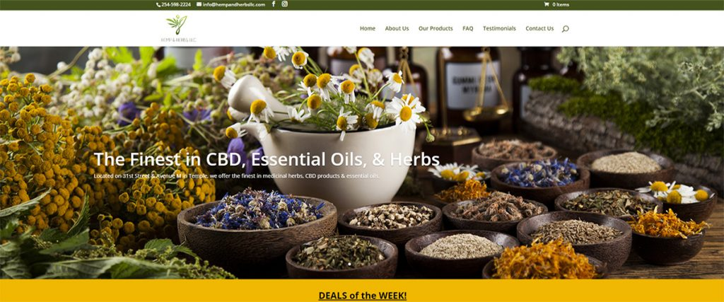 Hemp & Herbs | A Website by Gale Force Marketing, Inc.